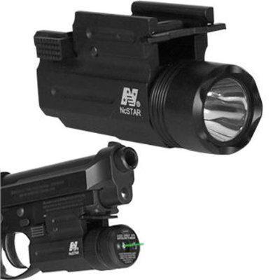 Promoción-NcStar Compact Pistol QD Flashlight / Green Laser Combo a estrenar