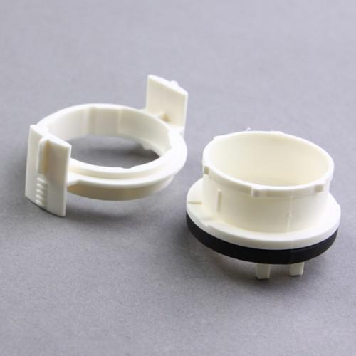 10 par par H7 HID Bulb Adapterhållare Kontakt 4 Vit 3 Serie E46 E65 E90 318i 1998-2004