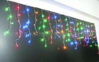 rideaux orange clair achat en gros de-En gros 200LED 5 mètres muti couleur lampe rideau lumières de Noël lampes de jardin 1 pcs