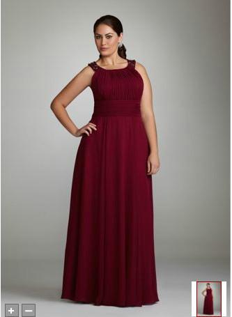 plus size dresses! straps sheath chiffon sash burgundy evening