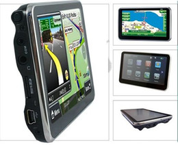 Wholesale Gps Wince - Free shipping 4GB 5 inch GPS Navigator with SIRF Atlas V CPU 600MHZ FM wince 6 3D map