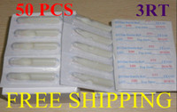 Wholesale Disposable Tattoo Tips Nozzles - Tattoo Needle Nozzles Tips 3RT Round 50pcs Disposable Tattoo Plastic Tips