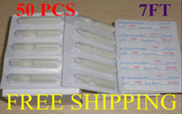 Wholesale Disposable Flat Tips - Tattoo Needle Nozzles Tips 7FT Flat 50pcs Disposable Tattoo Plastic Tips