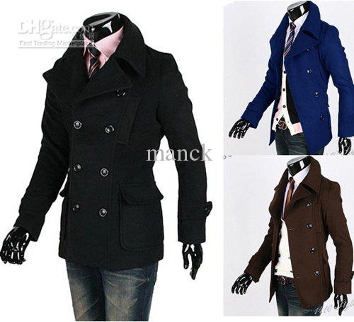 2018 Mens Double Breasted Winter Trench Coat Mens And Coats #ms181 ...