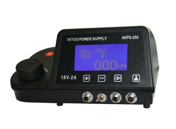 Professional Tattoo Power Supply LCD Digital Display for Dual Machine Gun Needle Grip Ink Kit