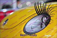 Wholesale 400PCS Pairs Eyelashes Car Eye Lashes Eyelash D Motor Car Sticker Eyelash Eye lashes