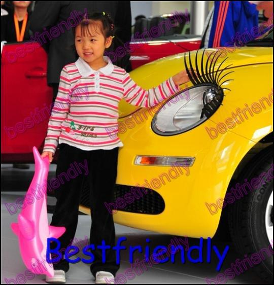 =Automotive Eyelashes Car Eye Lashes Eyelash 3D Car Logo Sticker Eyelash Eye-lashes