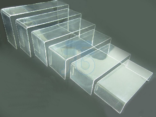 best selling 6 PCS CLEAR ACRYLIC DISPLAY RISER SHOWCASE STAND white