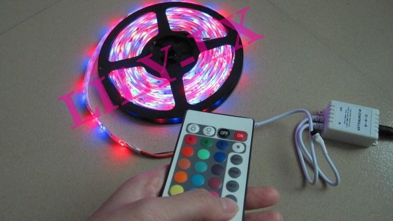 Top sale ip65 rgb led light strips transformer24 key ir controller top sale ip65 rgb led light strips transformer24 key ir controller5m light dhl led strip lights waterproof battery powered led strips from lily lx aloadofball Gallery