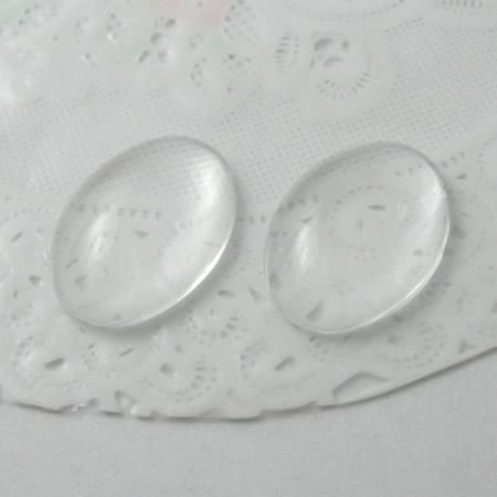 Beadsnice DIYジュエリーガラスカボションカメオオーバルドームドアクリアガラスカボション18 x 25 mm ID 12355