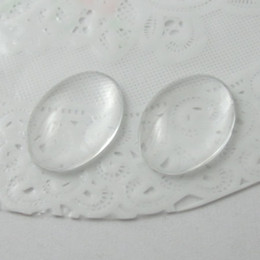Wholesale Oval Cameo Glass - Beadsnice diy jewelry glass cabochon cameo oval domed clear glass cabochon 18 X 25 mm ID 12355