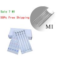 Wholesale Disposable Magnum - Disposable Tattoo Needles Premade Sterile 7M1 Magnum 50pcs Tattoo Needles