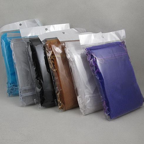 sacchetto dei monili , sacchetto di organza sacchetto organze , sacchetto di gioielli regalo , formato : 10x15cm mescola colore 200pcs / lot A2303