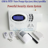 Wholesale Dialer Gsm Pstn - Good Quality - Voice Prompt Quad Bands GSM Alarm Wireless Dual Network GSM&PSTN Burglar Home Security Alarm Systems With Auto Dialer SG-200