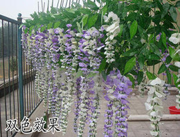 Wholesale Artificial Flower Strings - Artificial flowers silk flower wisteria vine Douhua living room decoration floral flower string of f