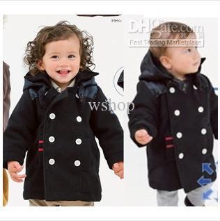 f7388a97ab6a Boys Black Pea Coat