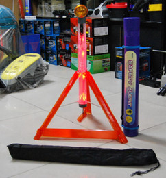 Wholesale Car Warning Triangle - Free shipping 1 pcs Warning Triangle Car Caution pleas for help light stick car reflective triangle, Safety warning