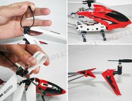 Wholesale Metal 3ch Helicopter - SYMA S107G 3CH R C Helicopter GYRO Aluminium Fuselage Stable Flight 2 Color S107 2pcs