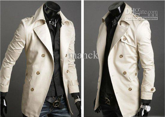 2017 Mens Long Trench Coat Double Breasted Mens Long Coats Fashion ...
