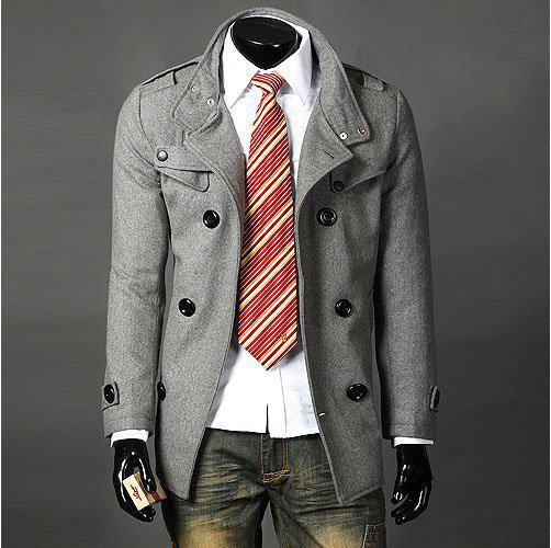 2018 Mens Wool Mens Long Coats Mens Winter Trench Coat Mens Coats ...