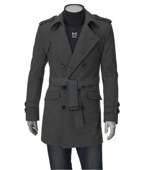 2018 Men's Trench Coats Men Long Winter Coats Mens Long Coats ...