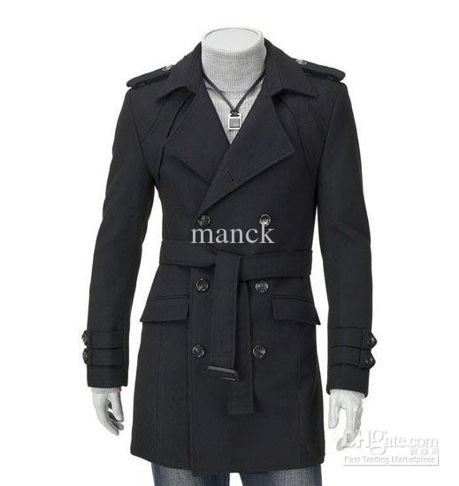 2017 Mens Coats Men Long Coats Mens Winter Trench Coat Long Coats ...