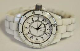 Wholesale Watch Paris - Womens Paris White Ceramic Unidirectional Bezel Watch Ladies Made Watches
