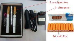 Wholesale Electronic Cigarettes E Health - ON SALE!! Health Smoking electronic e cigarette V9 Kit (1set=2 e-cigarette +20 cartridge +3 charger)