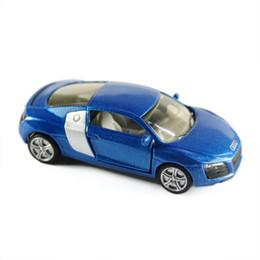 Wholesale Wholesale Die Cast Cars - 100% High Quality Exquisite AD R8 Die Cast Fire Engine Model Blue 1:64 10pcs