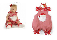 Wholesale Doomagic Clothing - 4pcs lot Doomagic baby Santa Baby dress,Christmas Baby Romper,Baby Santa Siamese clothes