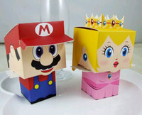 Wholesale Super Mario Candy Boxes - 100 pcs Super Mario Candy Box Wedding Party Favor lovely Cute Cartoon Gift Jewelry Boxes New
