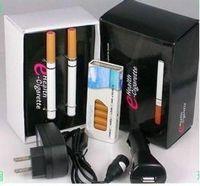 v9 araba toptan satış-Ücretsiz kargo! 5 ADET / GRUP V9 502D Sağlık çift e-sigara 10 kartuşları ve USB / Araba / AC şarj