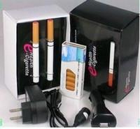 coche v9 al por mayor-¡Envío gratis! 5PCS / LOTE V9 502D Health doble e-cigarette con 10 cartuchos y cargadores USB / Car / AC