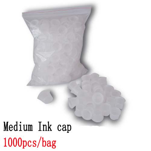 1000pcs Medium Size White Tattoo Ink Cups Caps Wide Cup