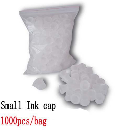 1000 sztuk Mały rozmiar Biały Tatuaż Cup Cups Caps Wide Cup