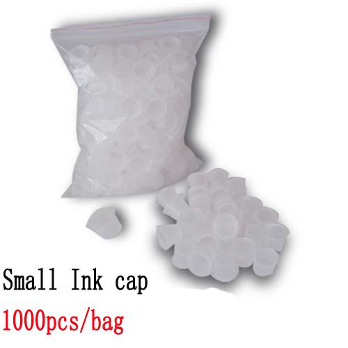 Small Size White Tattoo Ink Cups Caps Wide Cup