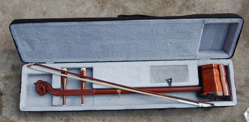 Partihandel Kina Musikinstrument, Erhu, Röd Wingceltis Erhu, Annatto Ledande Erhu, Direkt Tillverkning
