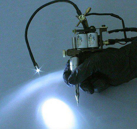 5 stks Tattoo Supplies gemonteerd LED-licht voor tattoo machinegeweer