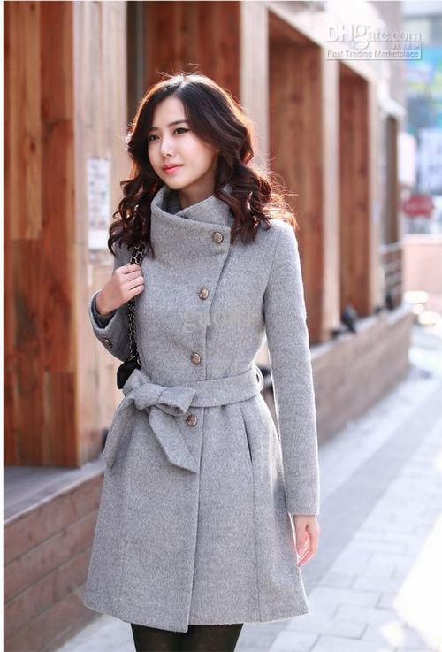2018 Lollipop Turn Down Collar Long Sleeve Drape Coat Women Winter ...