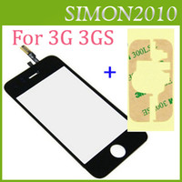 Wholesale Iphone 3g Glass Digitizer - For Apple iphone 3G 3GS Digitizer Touch Screen Glass Screens New mobile Replacement Repair Parts