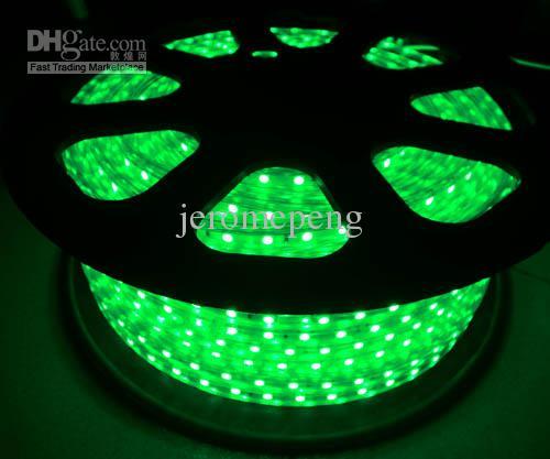 50M NUEVO IP67 110V 120V 220V 230V SMD5050 60LEDs / M RGB tiras flexibles de colores LED + RF 10keys Controlador de panel RGB LED Envío gratuito