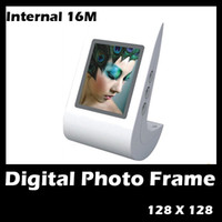 "Wholesale Metal Frame Keychain - 3 pcs sample 1.5"" Digital Photo Frame CSTN LCD Calender Clock Screen Keychain 16MB Swing USB mixbuy"