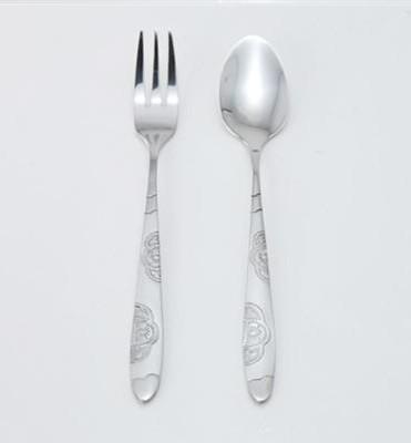5pcs 3 en 1 vaisselle set fourchette cuillère set de voyage en acier inoxydable couverts