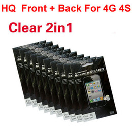 4s Full Screen Australia - HQ Clear Front+Back 2in1 Screen Cover Shield Protector FULL BODY for iPhone 4 4S 400pcs lot