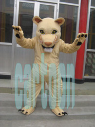 Wholesale Costume Cougars Mascot - Hot Sale Real Pictures Cougar Mascot Costume Halloween prop,factory direct