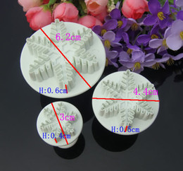 Pastry Cutters Canada - 3P New Snowflake Snow Cake Fondant Pastry Cutter Mold Tools Decorating Craft,cake tool,cake mould
