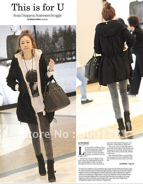 Fashion Faux Fur Lining Women's Coat/Jacket Winter Warm Long ...