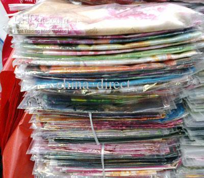 Prachtige 100% zijden sjaal sjaal sjaal sjaals sjaal 10 stks / partij # 1675 niet-merk