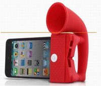 Wholesale Horn Products - 150pcs lot phone speaker,horn stand,phone radiation-proof product, phone stand.9colors for choosing.