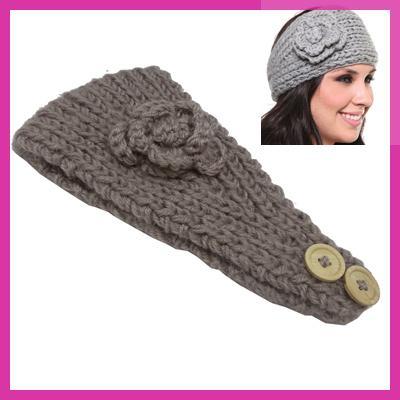 new girl crochet headband knit hairband flower winter women wrap